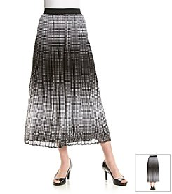 Notations® Pleated Ombre Long Skirt