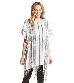 BCBGeneration™ Printed Sequin Slub Beach Coverup