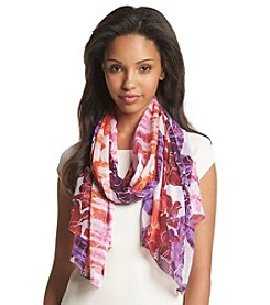 Collection 18 Tie-Dye Floral Scarf