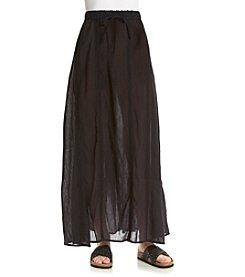 Ruff Hewn Gauze Crochet Trim Maxi Skirt