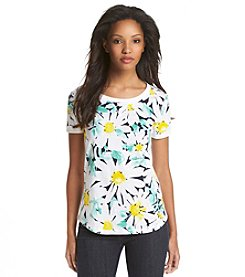 Jones New York Sport® Floral Print Tee