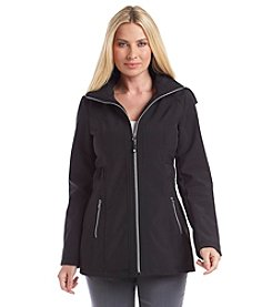 Jessica Simpson Ruched Waist Zipfront Coat