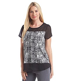 Vince Camuto® Textured Etchings Top