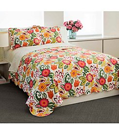 Chelsea Home Bright Floral Quilt Set