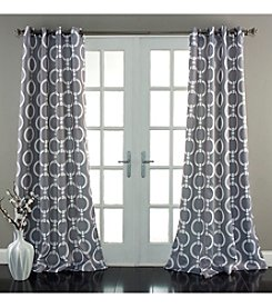 Lush Decor Chainlink Room Darkening Window Curtain
