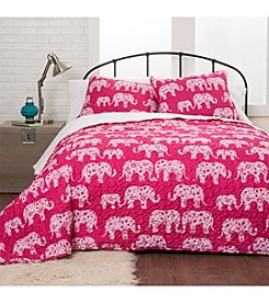 Lush Decor Elephant Parade 3-pc. Quilt Set