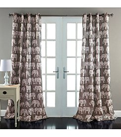 Lush Decor Elephant Parade Room Darkening Window Curtain
