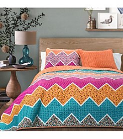 Lush Decor Everlyn Chevron 3-pc. Quilt Set