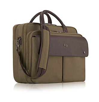 "Solo® Khaki 15.6"" Executive Briefcase"