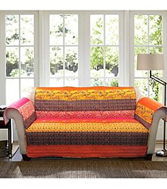 Lush Decor Royal Empire Tangerine Loveseat or Sofa Slipcover