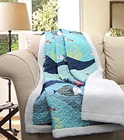 Lush Decor Sea Life Sherpa Throw