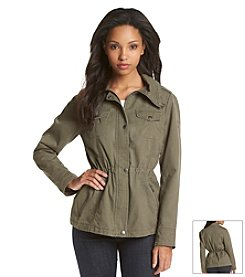 GUESS Drawstring Collar Anorak Jacket