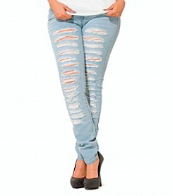 Poetic Justice® Jessica Destroyed Skinny Jean