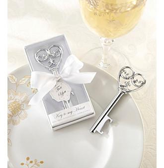 "Kate Aspen Set of 12 ""Simply Elegant"" Key To My Heart Bottle"
