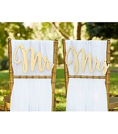 Kate Aspen Classic Mr. and Mrs. Chair Backers