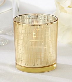 Kate Aspen Set of 12 Classic Gold Stripe Tea Light Holders
