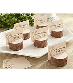 Kate Aspen Set of 12 Rustic Real Wood Place Card/Photo Holders