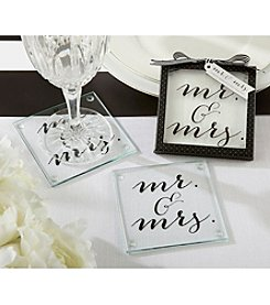 Kate Aspen Set of 12 Classic Mr. and Mrs. Coasters