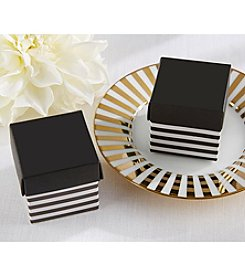 Kate Aspen Set of 24 Classic Black and White Striped Favor Boxes