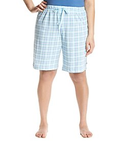 KN Karen Neuburger Plus Size Plaid Lounge Bermuda Shorts
