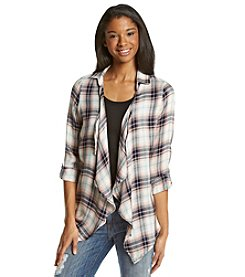 Living Doll® Plaid Drape Shirt
