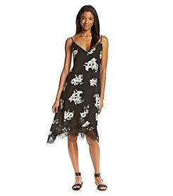 BB Dakota® Lace Trim Floral Slip Dress