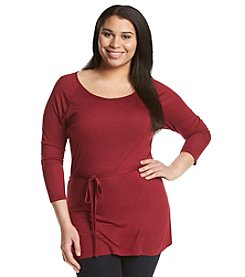 A. Byer Plus Size Belted Tunic