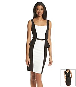 XOXO® Contrast Peplum Dress
