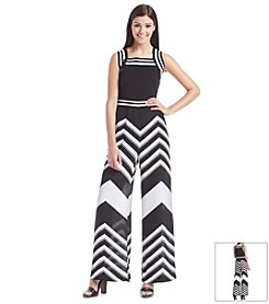 XOXO® Chevron Printed Jumpsuit