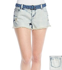 Hippie Laundry Destructed Acid Wash Jean Short