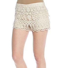 Hippie Laundry Layered Crochet Shorts