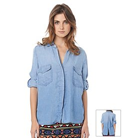 Sam Edelman™ Split Back Tencel Denim Shirt