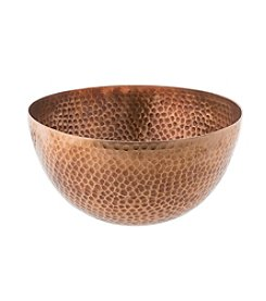 Thirstystone® Urban Farm Medium Round Hammered Antique Copper Salad Bowl