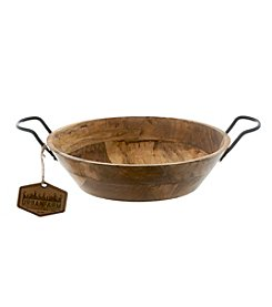 Thirstystone® Urban Farm Mango Wood Bowl with Metal Handles
