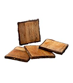 Thirstystone® Urban Farm Square Mango Wood Bark Set of 4 Coasters