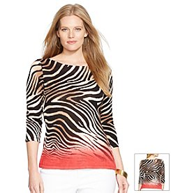 Lauren Ralph Lauren® Plus Size Zebra-Print Sweater