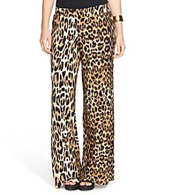 Lauren Ralph Lauren® Plus Size Leopard-Print Wide-Leg Pants