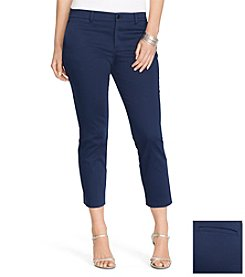 Lauren Ralph Lauren® Plus Size Skinny Cropped Sateen Pants