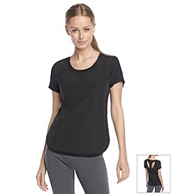 Calvin Klein Performance Active Tee With Cutout Back