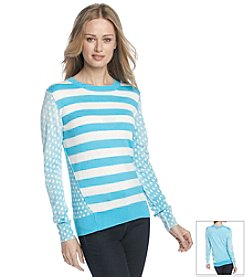 MICHAEL Michael Kors® Dot Stripe Print Sweater