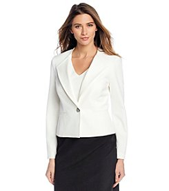 Nine West® One Button Wing Lapel Jacket