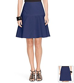 Lauren Ralph Lauren® Fit-And-Flare Cotton Skirt