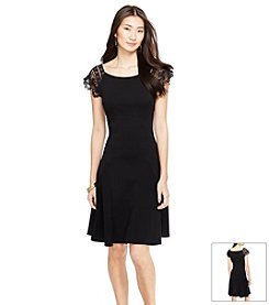 Lauren Ralph Lauren® Lace-Sleeve Cotton Dress