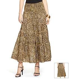 Lauren Ralph Lauren® Tiered Cheetah Print Skirt