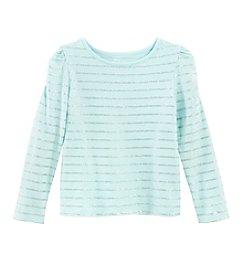 Little Miss Attitude Mix & Match Girls' 2T-6X Long Sleeve Tee With Glitter Stripe