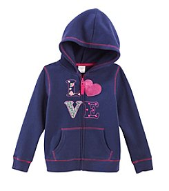 Little Miss Attitude Mix & Match Girls' 2T-6X Full Zip Fleece Hoodie