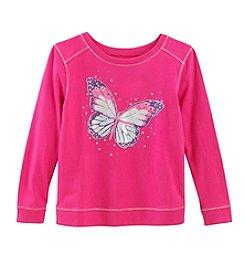 Little Miss Attitude Mix & Match Girls' 2T-6X Long Sleeve Butterfly Sweatshirt Tee