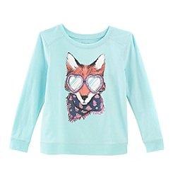 Little Miss Attitude Mix & Match Girls' 2T-6X Long Sleeve Fox Sweatshirt Tee