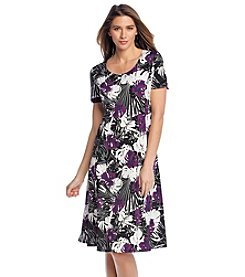 Notations® Leaf Print Dress