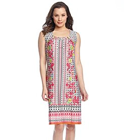 Notations® Multi Print Pleated Dress